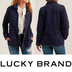 Lucky Brand Laurel Utility Jacket Navy Blue Small
